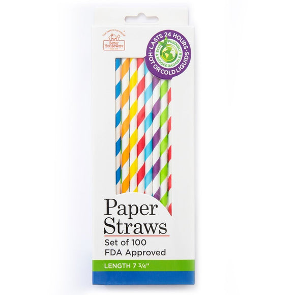 Paper Straws (Set of 100)