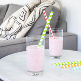 Extra-Wide & Long Paper Straws (Set of 25)