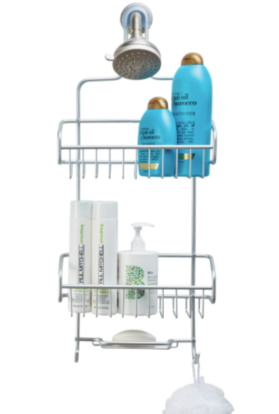 Silver Extra-Large Shower Caddy