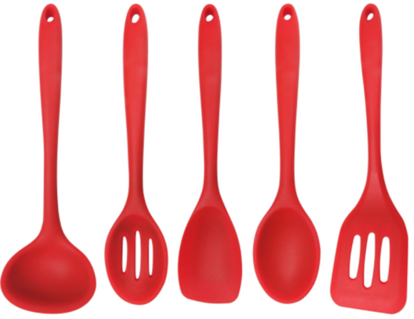 Red 5-Piece Silicone Cooking Tools