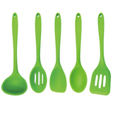 Green 5-Piece Silicone Cooking Tools