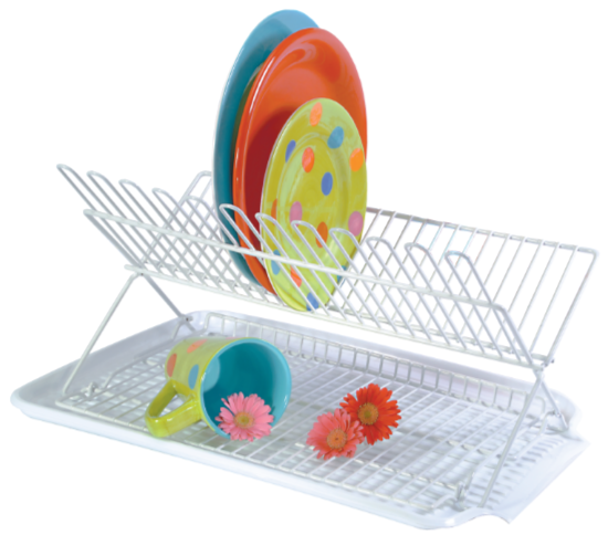 Folding Dish Rack & Drain Board Set