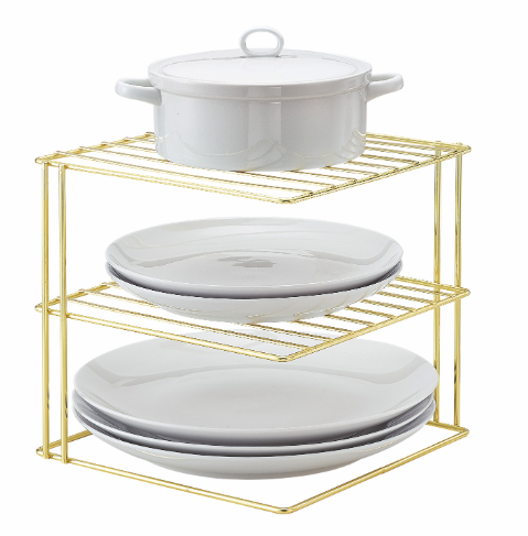 Corner Storage Rack - Brass