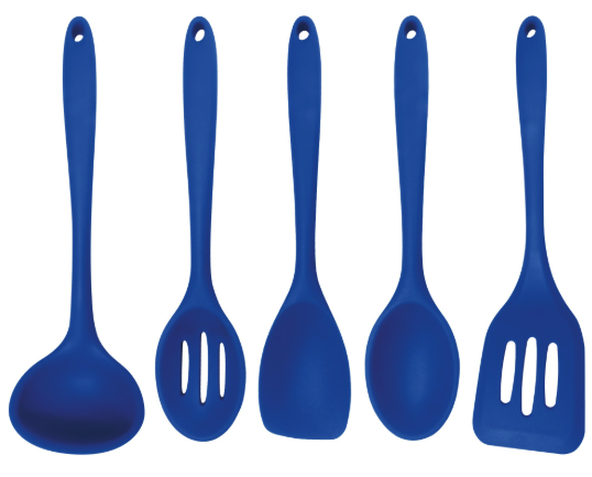 Blue 5-Piece Silicone Cooking Tools