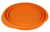 Orange Collapsible Colander