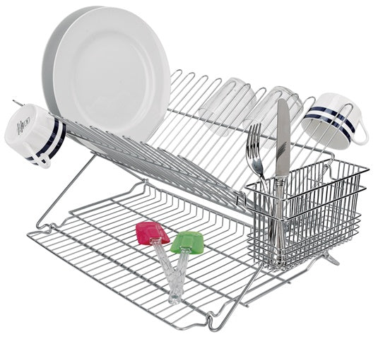 Metallic Folding Dish Rack