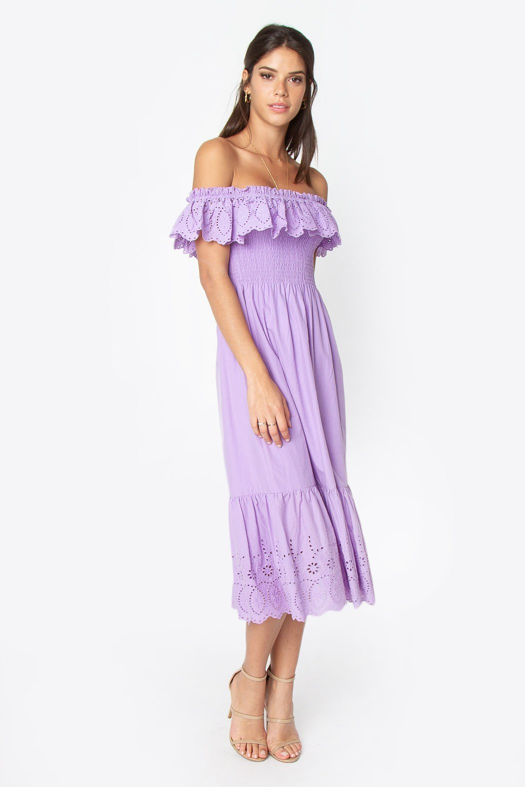 Sugarlips Betsy Off the Shoulder Midi Dress