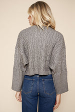 Load image into Gallery viewer, Sugarlips Cable Knit Cropped Sweater