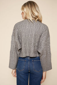 Sugarlips Cable Knit Cropped Sweater