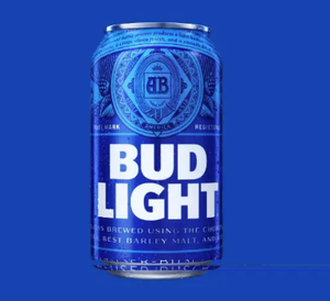 Bud Light Beer Can Candle