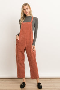CORDUROY OVERALLS WITH BUCKET POCKETS