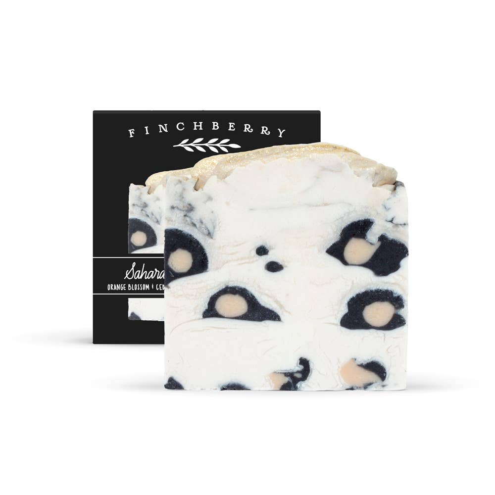 Leopard bar soap Finchberry Made in USA