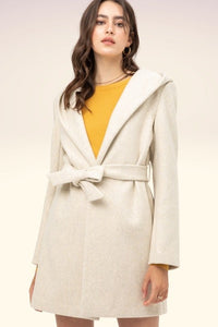 Cozy Fleece Belted Coat