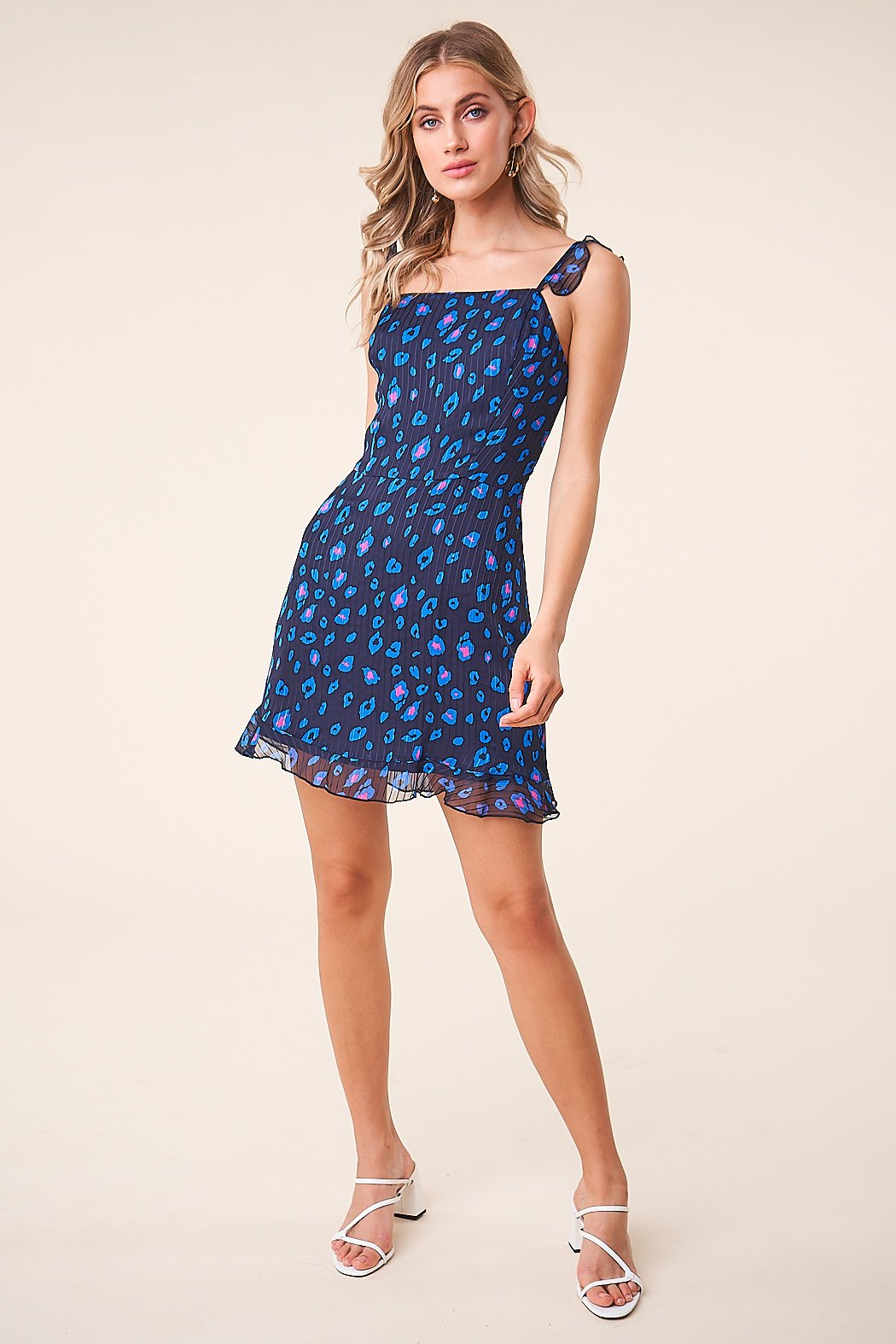 Sugarlips Neon Carnival Leopard Square Neck Dress