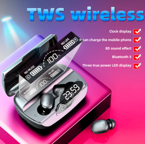 TWS D18 Touch Control  Wireless Sports  Waterproof Bluetooth Headphones