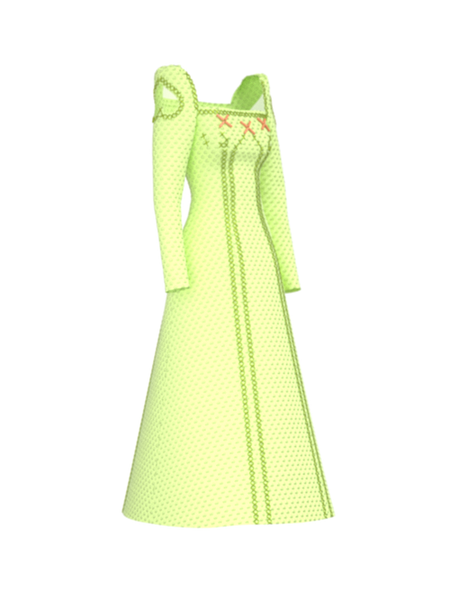 Light Green Dress, Alena Akhmadullina
