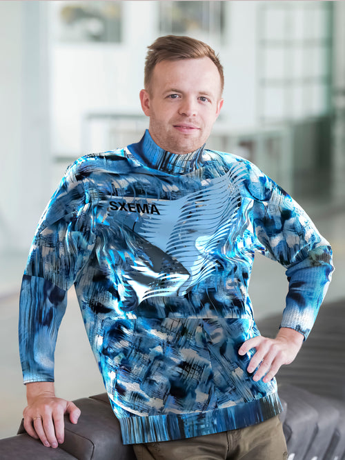 JUMPER WITH NETWORK CREATED PATTERN