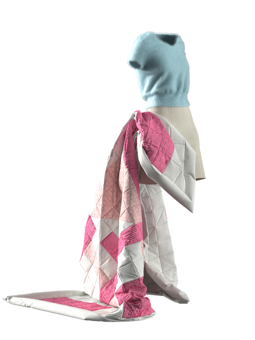 Set Jumper, Skirt, and Blanket by Aschno