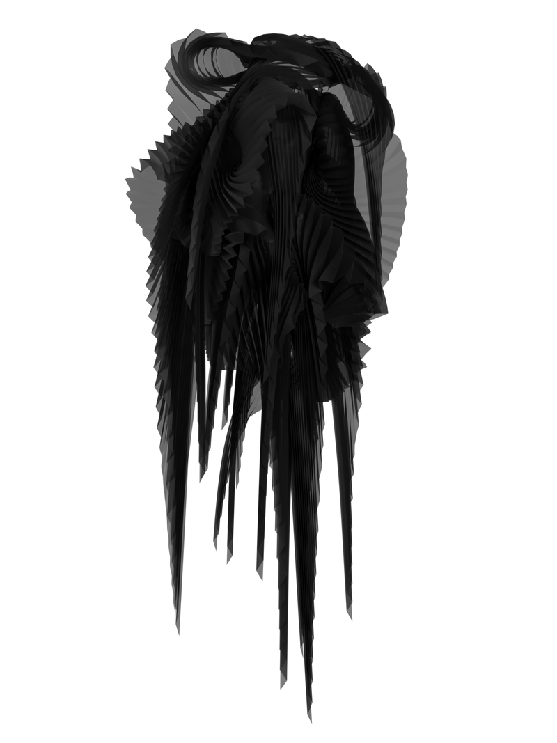 Pleated wings black