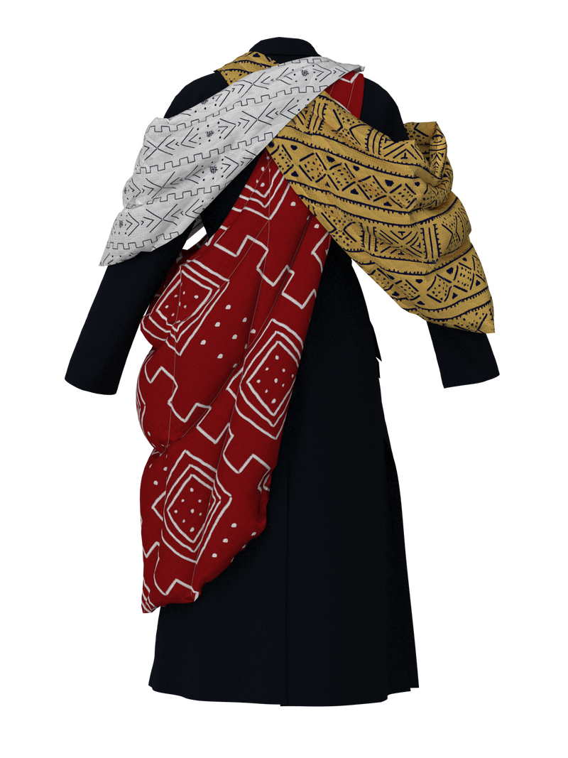 Coat with 3 capes