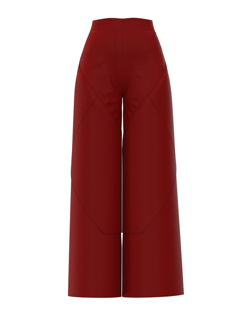 Geometric pants red