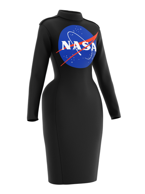 Space dress NASA Insignia logo black