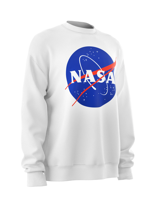 Sweatshirt NASA Insignia logo white