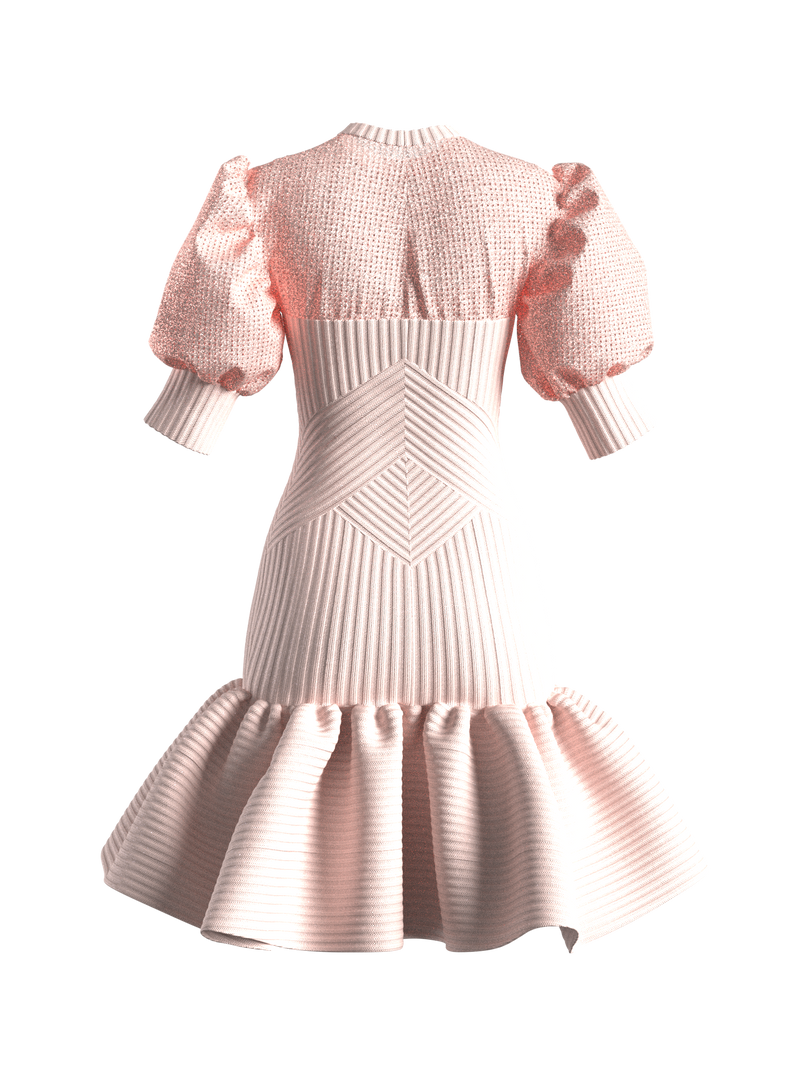 HADLEY SWEATER DRESS LIGHT PINK