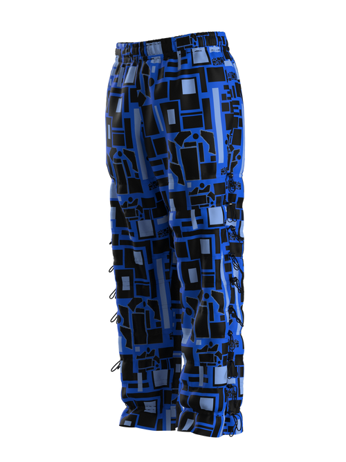 Blue Matrix Joggers