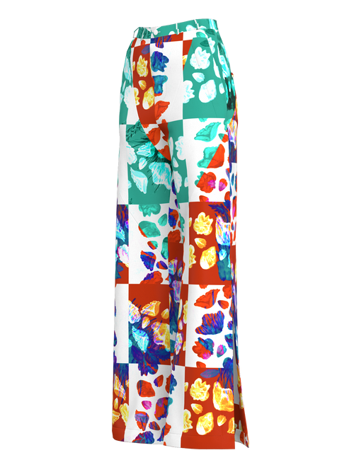 Floral Tile Trousers
