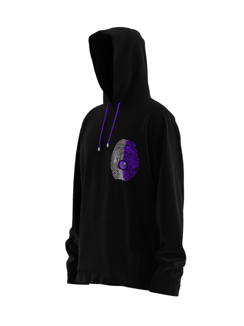 Spine or Technology? Purple Hoodie