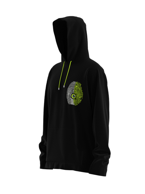 Spine or Technology? Green Hoodie