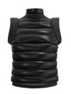 Puffer vest with shoulder detail black