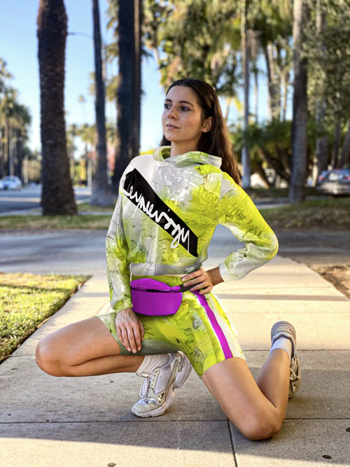 reflective shorts sport suit&banana bag
