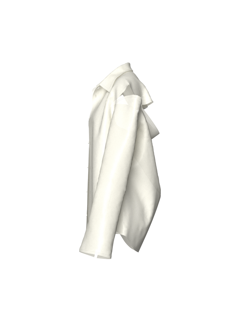 Semi-Transparent Cream Blazer by Nina Doll