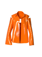 Latex Orange Blazer by Nina Doll