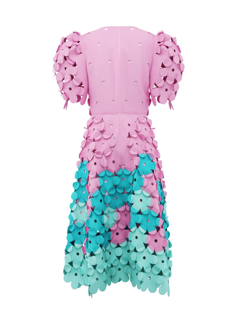 Pink & Blue dress by Paskal
