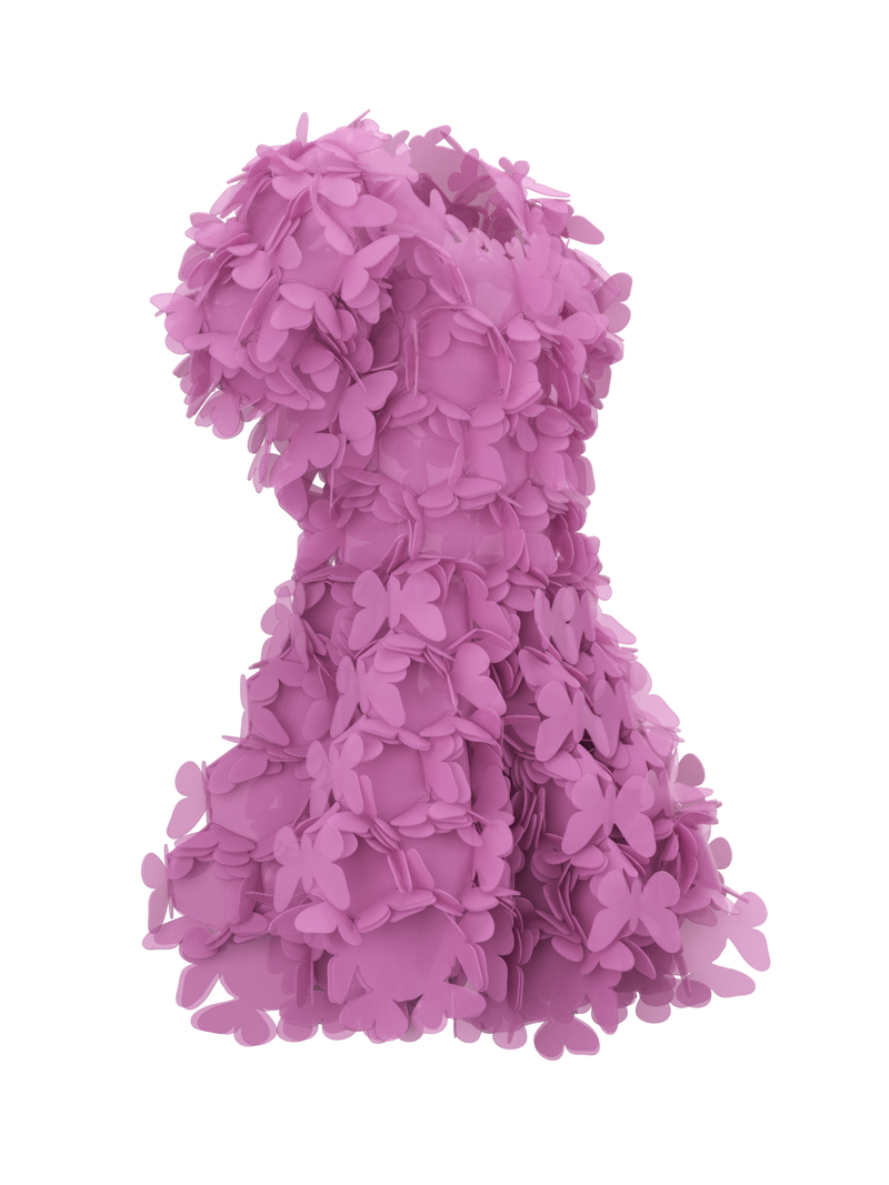Pink butterfly dress by Paskal