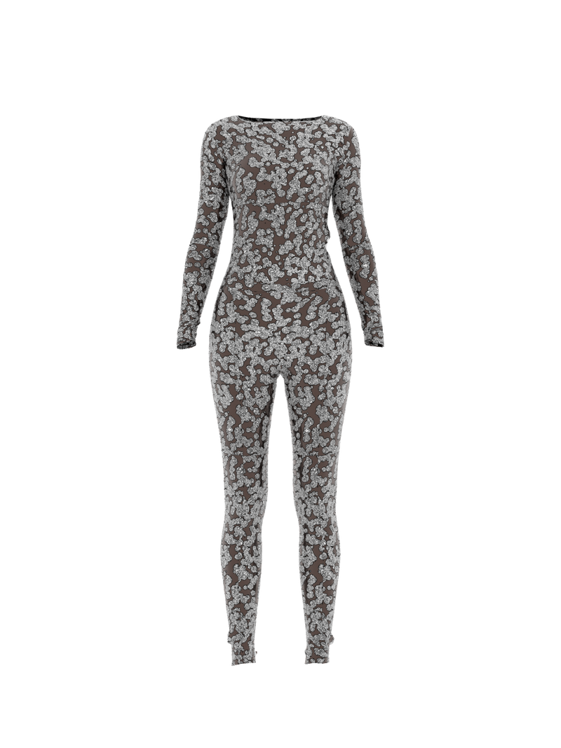 Overall Suit Silver Matte