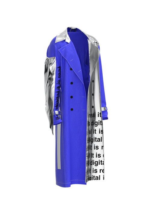 Coat Yves Klein by Ophelica