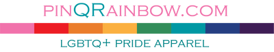 pinqrainbow.com logo - LGBTQ+ Pride Apparel - Lesbian Pride T-Shirts, Gay Pride Tank Tops, Bisexual Pride Jerseys, Transgender Pride Hooded Sweatshirts, Queer Pride Hats and Accessories for every letter of the LGBTQ+ community.
