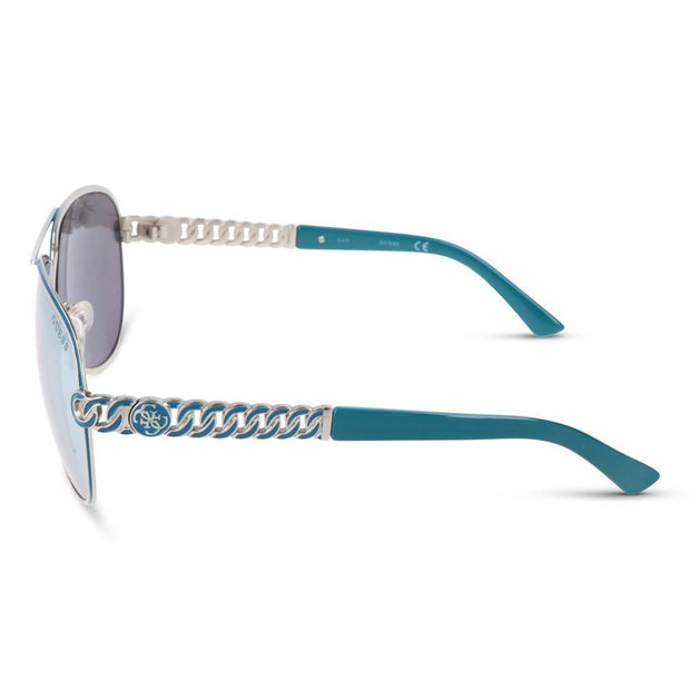 Guess Damen Sonnenbrille GU7404 10C Shiny Light Nickeltin