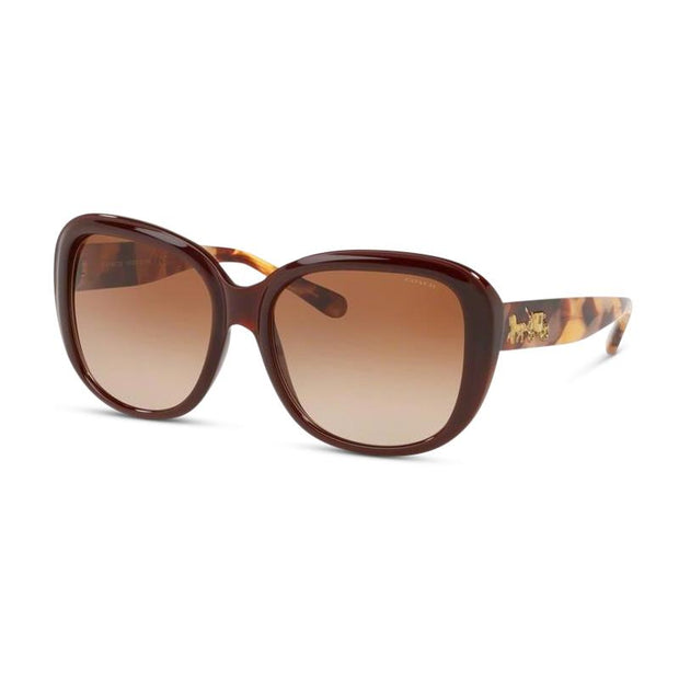 COACH Damen Sonnenbrille HC8207 553113 57 Dark Honey