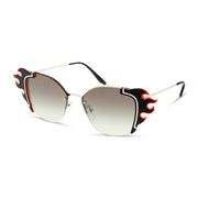 PRADA Damen Sonnenbrille PR 59VS 4275O0 64 SILVER/BLACK ORANGE