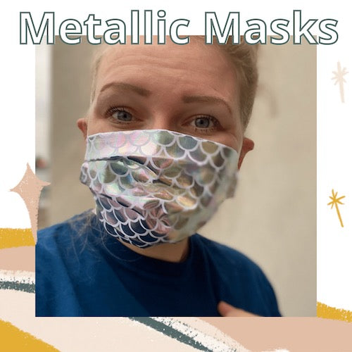 Mermaid Shimmer Metallic Mask
