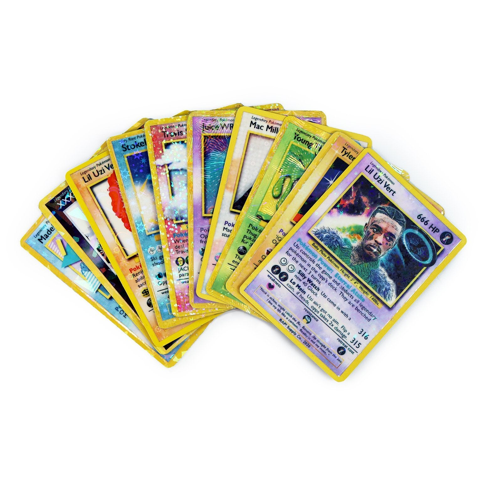 10 Card Power Pack - REMIX TRADING CARDS - Rap Supply Co.