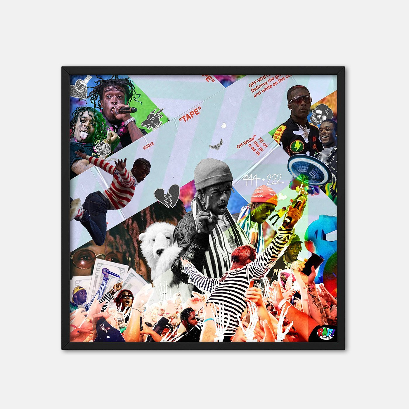 "Uzi Collage Poster 12""x12"" - Rap Supply Co"