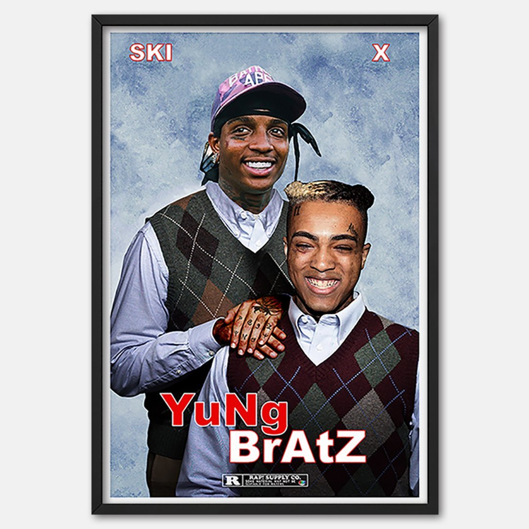 YuNg BrAtZ Movie Poster ft Ski Mask & X Based Off Step Brothers - Rap Supply Co