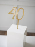 Cake Topper In Digits - Cursive Font