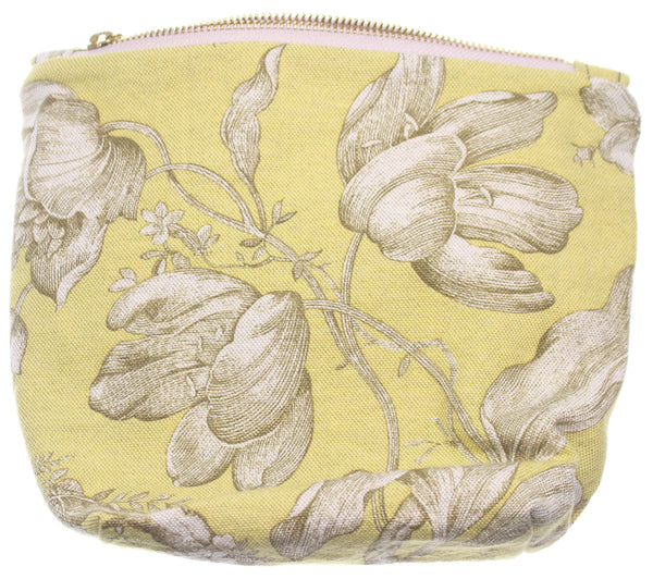 Green Flower Hand Bag White Interior - Hoglumps